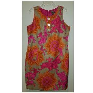 Taylor sleeveless printed dress size 14